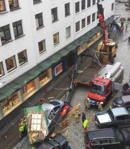 Crane accident in Bergen