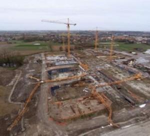 Heavy storm took down two tower cranes in Belgium