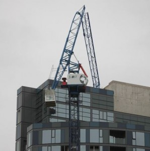 Safety alert for tower cranes
