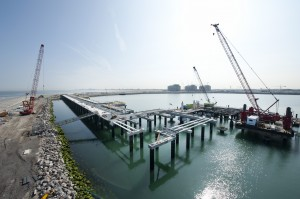 Crawlers assist at Europe's biggest LNG facility