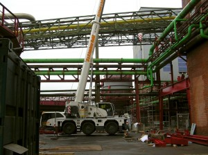 Terex crane meets space challenges in factory