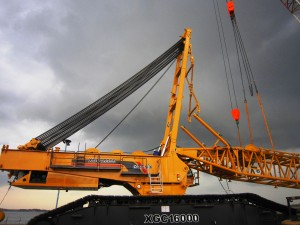 XCMG in kiloton crawler crane export