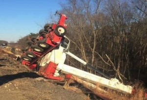 Crane overturns on New Jersey road job
