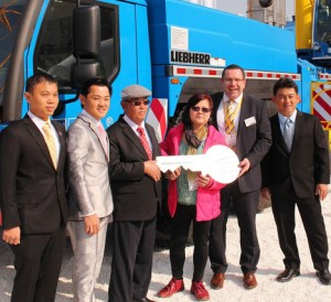 Large Liebherr and JLGs for Singapore