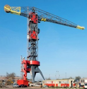 New hotel in a large harbour crane